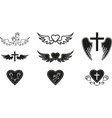 funeral symbols vector image