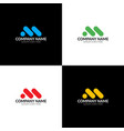 m minimalism logo icon from letters m vector image