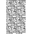 seamless black and white pattern with doodle vector image