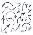 Set of hand drawn arrows vector image