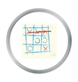 Tic-tac-toe icon in pattern vector image
