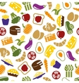 vegetarian meals seamless pattern vector image
