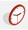 wall clock isometric icon vector image
