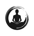 zen yoga meditation abstract symbol vector image