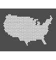 Abstract USA map of hexagons vector image