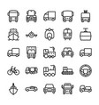 automobile line icons 5 vector image