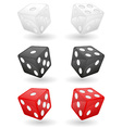 casino dice 01 vector image