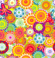 Colorful floral seamless background vector image