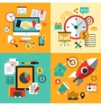 Flat design concept icons for business Icons vector image