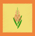 flat shading style icon herbal chamerion vector image