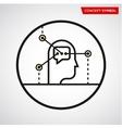 human head bubble elements vector image