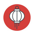 japanese lantern icon isolated on white background vector image