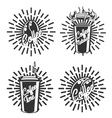 Vintage coffee emblems vector image