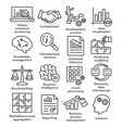 Business management icons in line style Pack 04 vector image