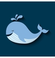 tender cute whale card icon vector image
