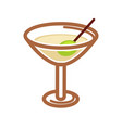 classic cocktail with olive vector image