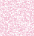 Pink triangles abstract geometric background vector image