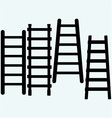 Set wooden staircase vector image vector image