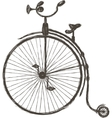 Vintage bicycle with large wheel vector image vector image