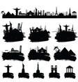 ancient famous world monument in black color vector image