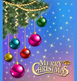 background christmas card with branches of vector image