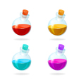 Bottles of potion icons for games vector image