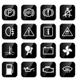 car driving icons vector image
