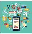 E-commerce concept Flat design vector image