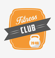 fitness club design vector image