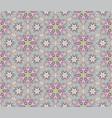 flourish mosaic tiled pattern floral oriental vector image