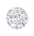 jewelry and gemstones line icons luxury vector image