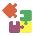 jigsaw puzzle pieces for multiple uses vector image
