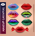 set of makeup lips vector image