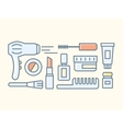Tools for make-up vector image