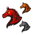 Furious horse icons Stylized stallion emblems vector image