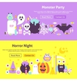Halloween Trendy Web Banners vector image