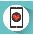 healthcare app cardiology heart graphic vector image