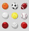Sports balls cartoon ball set for soccer vector image vector image