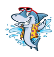 Cartoon Shark Beach vector image vector image