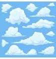 cartoon clouds in blue sky vector image vector image