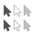 Arrow cursors vector image vector image