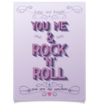 Rock love poster design vector image