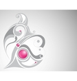 gray curl and pink beads vector image