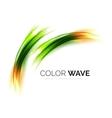 Blurred wave design elements vector image