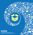 Open box icon Nice set of beautiful icons twisted vector image vector image