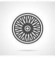 Bike wheel flat icon vector image