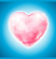 cotton candy heart icon valentine sweet vector image