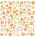 floral seamless pattern background spring design vector image