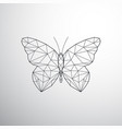 geometric butterfly vector image