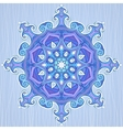 Ornate circle pattern star in Arabic style vector image